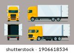 cargo truck four angle set....   Shutterstock .eps vector #1906618534