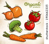 vector set of vegetables ... | Shutterstock .eps vector #190662335