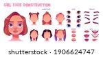 girl face construction  avatar... | Shutterstock .eps vector #1906624747