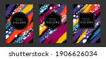 colorful artistic poaters with... | Shutterstock .eps vector #1906626034