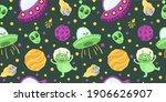 space celestial seamless... | Shutterstock .eps vector #1906626907