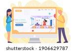 colleagues discuss musician...   Shutterstock .eps vector #1906629787
