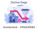 decline stage concept. finance... | Shutterstock .eps vector #1906630084