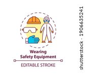 wearing safety equipment... | Shutterstock .eps vector #1906635241