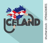 iceland and map typography... | Shutterstock .eps vector #1906636801