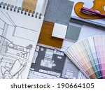 interior illustration sketch... | Shutterstock . vector #190664105
