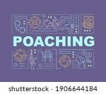 poaching word concepts banner....