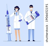 people vaccination concept for... | Shutterstock .eps vector #1906652191