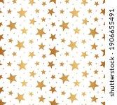 star gold seamless pattern.... | Shutterstock .eps vector #1906655491