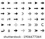 arrows big black set icons.... | Shutterstock .eps vector #1906677364