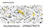 website design concept. cross... | Shutterstock .eps vector #1906679674