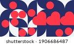 romantic vector abstract ... | Shutterstock .eps vector #1906686487