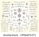 set of  decorative elements for ... | Shutterstock .eps vector #1906691371