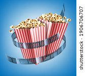 movie theater flyer with film...   Shutterstock .eps vector #1906706707