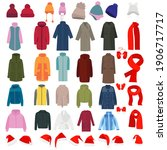 collection of outerwear ... | Shutterstock .eps vector #1906717717