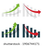 graph or diagram with arrow...   Shutterstock .eps vector #1906744171