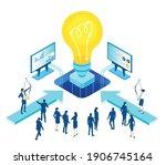 isometric 3d business... | Shutterstock .eps vector #1906745164
