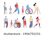 disability people. children... | Shutterstock .eps vector #1906752151