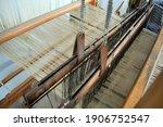 Hand Loom Wooden Loom. An Old...