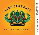 King Cannabis Logo Weed Shop...