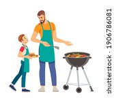 father and son having a... | Shutterstock .eps vector #1906786081