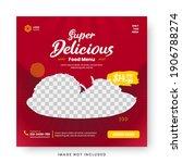 food menu banner social media... | Shutterstock .eps vector #1906788274