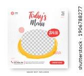 food menu banner social media... | Shutterstock .eps vector #1906788277