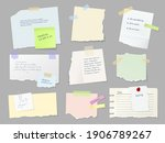 notes paper sheets attached... | Shutterstock .eps vector #1906789267