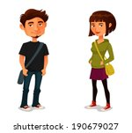 cute cartoon characters   young ...   Shutterstock .eps vector #190679027