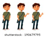 cartoon illustration of a young ... | Shutterstock .eps vector #190679795