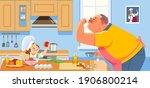 coronavirus or covid 19...   Shutterstock .eps vector #1906800214