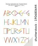 abstract alphabet set   capital ... | Shutterstock .eps vector #190680644