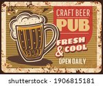 Craft Beer Pub Rusty Metal...