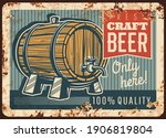 Craft Beer Rusty Metal Plate ...