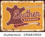 leather workshop vector rusty... | Shutterstock .eps vector #1906819834