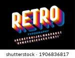 retro style colorful font... | Shutterstock .eps vector #1906836817