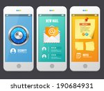 vector flat web design elements.... | Shutterstock .eps vector #190684931