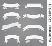 big set white ribbon grey...   Shutterstock .eps vector #1906854841