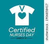 certified nurses day is...   Shutterstock .eps vector #1906858417