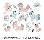 baby shower character set... | Shutterstock .eps vector #1906858567