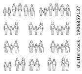 family  parents and children ... | Shutterstock .eps vector #1906859137