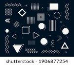 memphis geometric abstract... | Shutterstock .eps vector #1906877254
