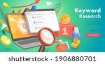 3d isometric flat vector... | Shutterstock .eps vector #1906880701
