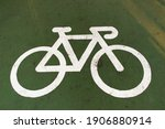 Bicycle Path Symbol Paint On...