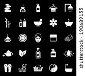 spa icons on black background ... | Shutterstock .eps vector #190689155