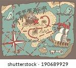 island treasure map  vector... | Shutterstock .eps vector #190689929