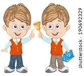 cute schoolchild  | Shutterstock .eps vector #190692329