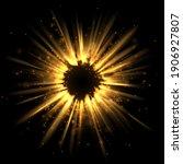 abstract gold light exploding... | Shutterstock .eps vector #1906927807