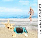 shells on sandy beach   Shutterstock . vector #190692971
