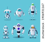 Robot Cartoon Characters Of...